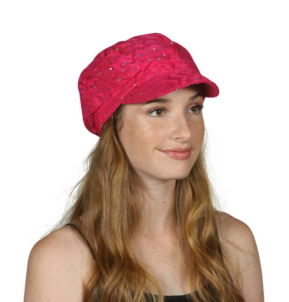 Women-039-s-Glitter-Sequin-Trim-Newsboy-Style-Relaxed-Fit-Hat-Cap thumbnail 12