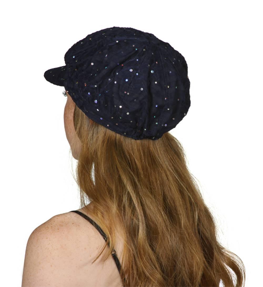 TopHeadwear-Glitter-Sequin-Trim-Newsboy-Hat thumbnail 16