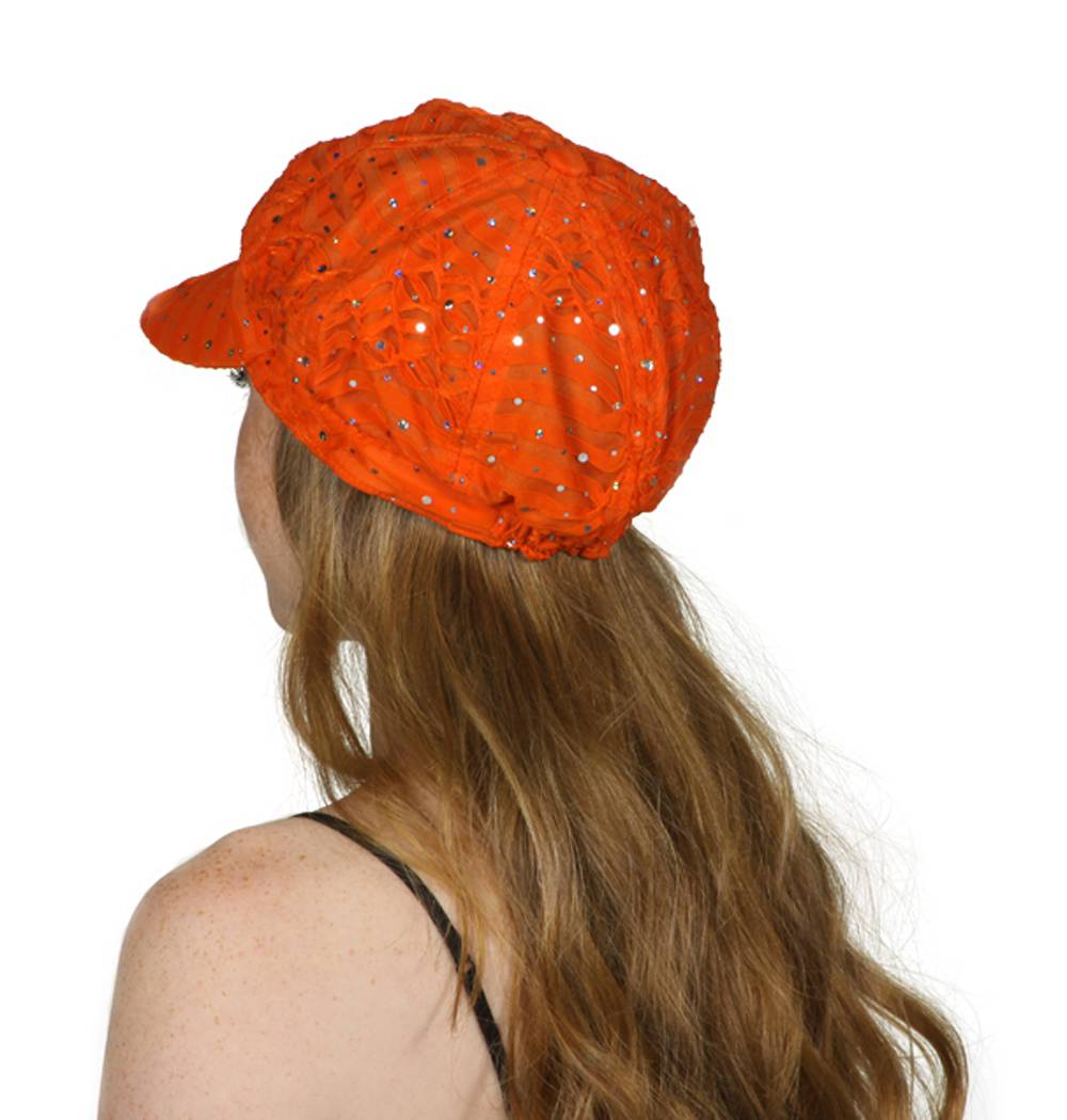 TopHeadwear-Glitter-Sequin-Trim-Newsboy-Hat thumbnail 18