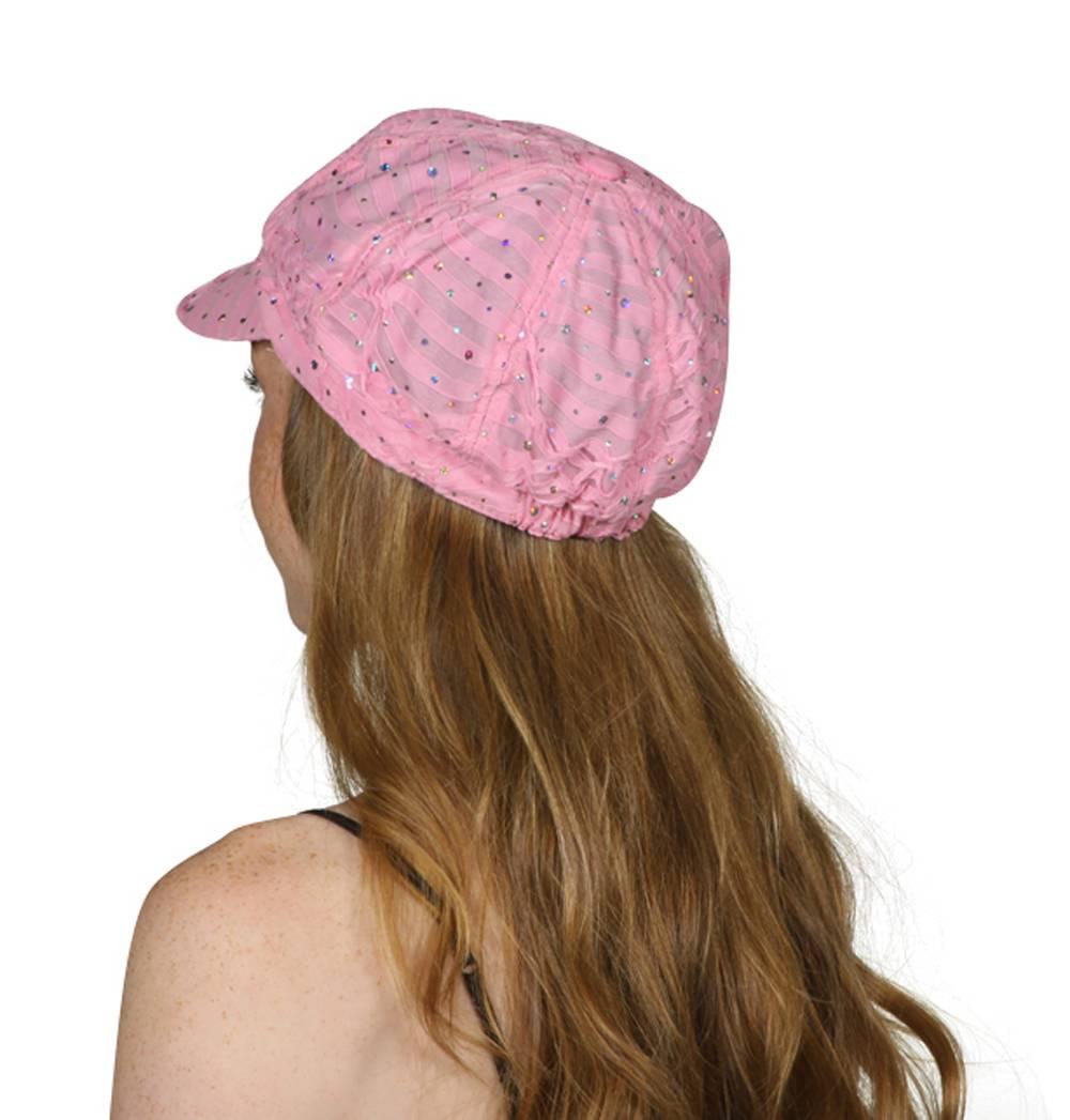 TopHeadwear-Glitter-Sequin-Trim-Newsboy-Hat thumbnail 20