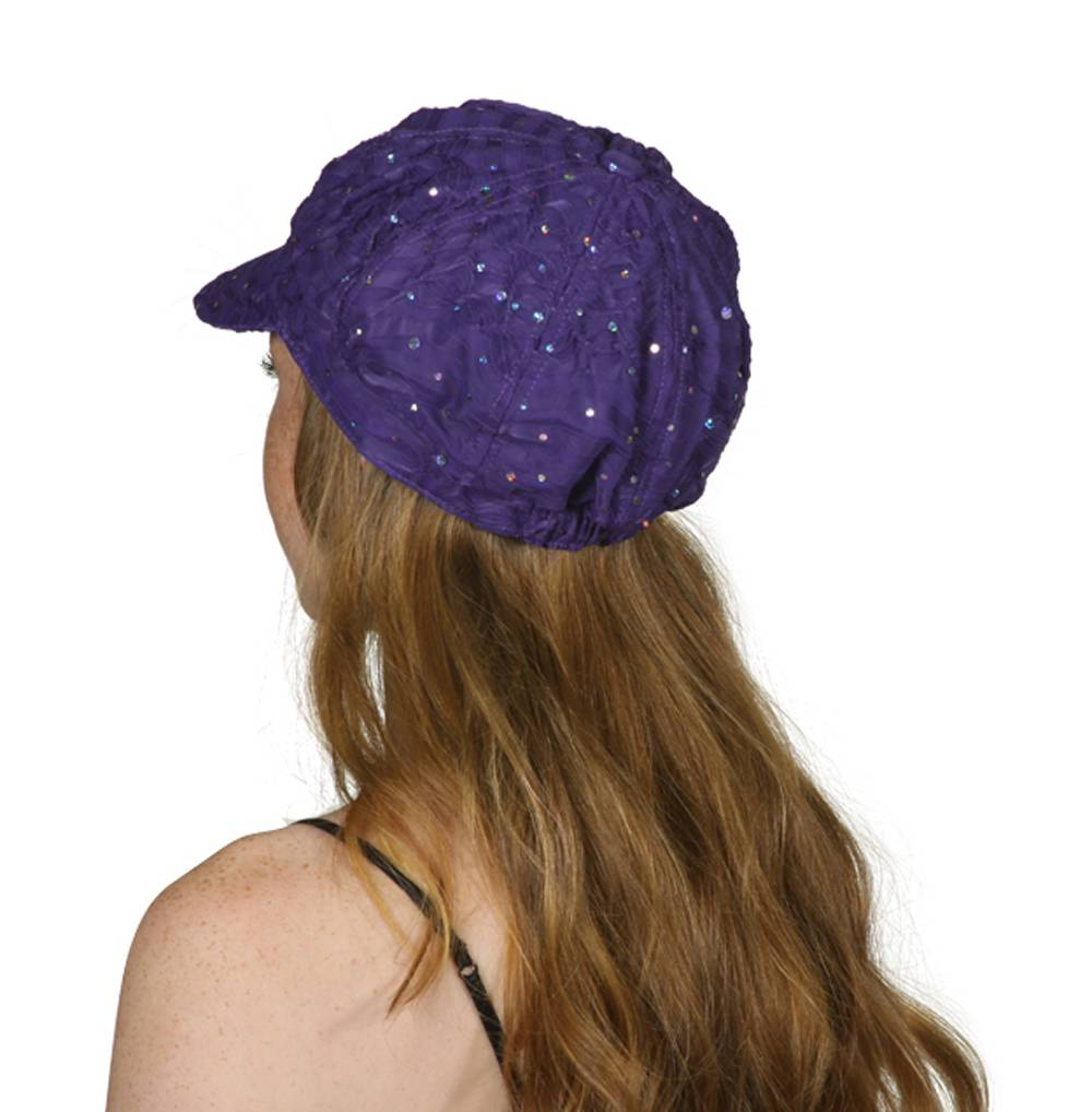 TopHeadwear-Glitter-Sequin-Trim-Newsboy-Hat thumbnail 22