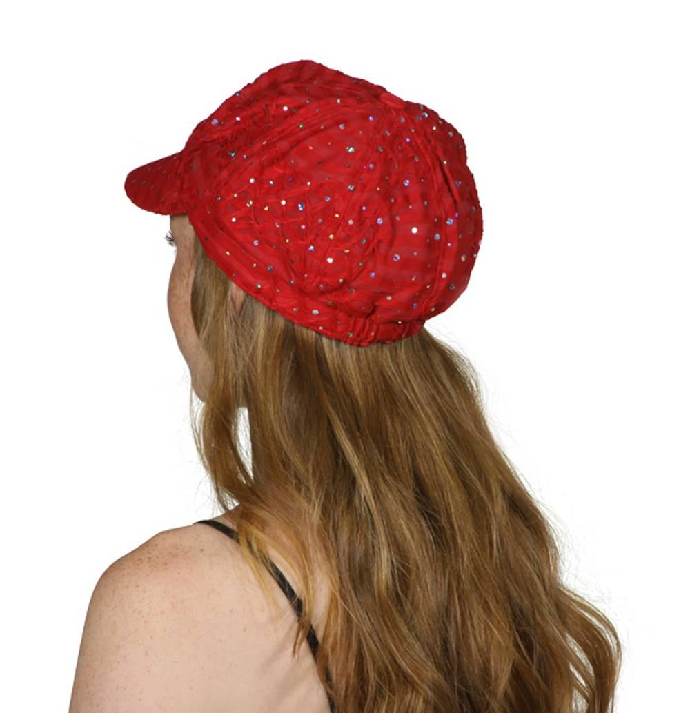 TopHeadwear-Glitter-Sequin-Trim-Newsboy-Hat thumbnail 24