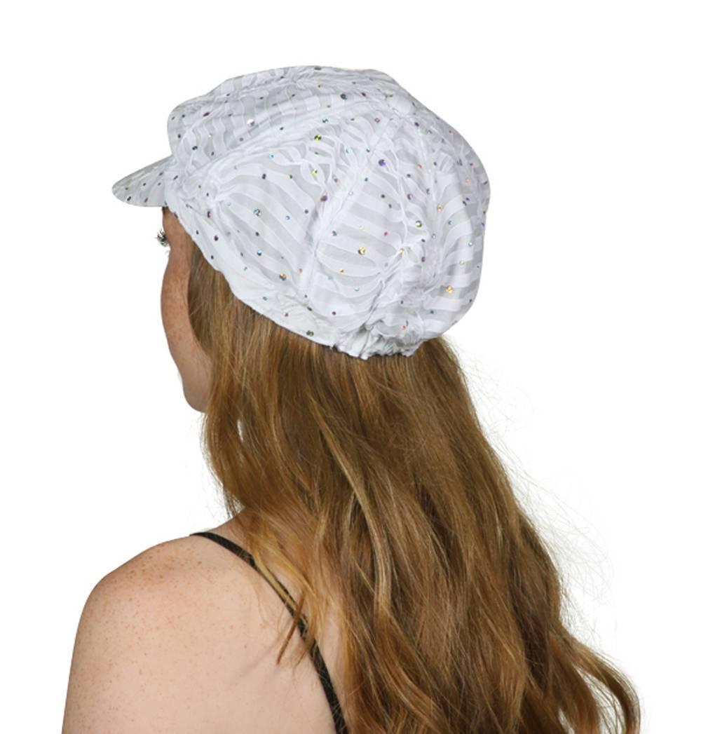 TopHeadwear-Glitter-Sequin-Trim-Newsboy-Hat thumbnail 32