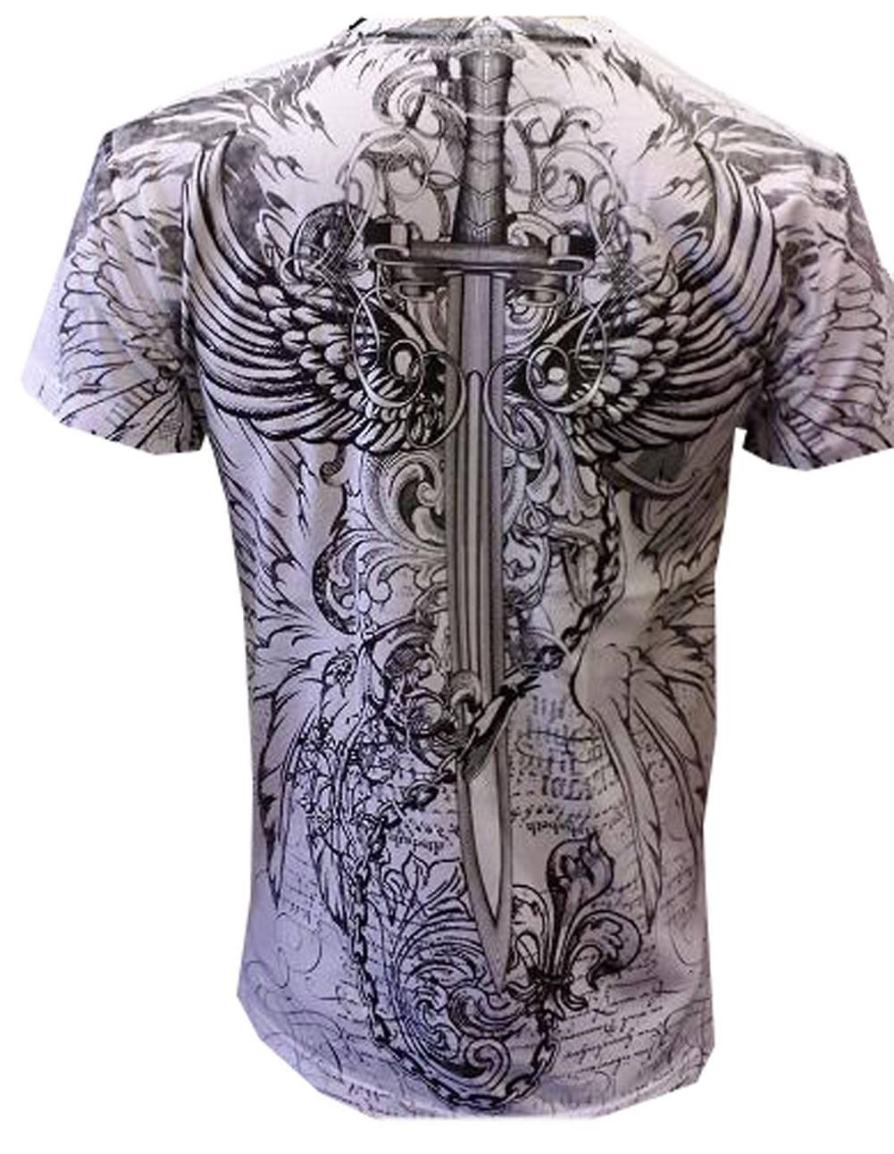 Konflic-NWT-Men-039-s-Eagle-Defender-Graphic-Designer-MMA-Muscle-Crewneck-T-shirt thumbnail 8