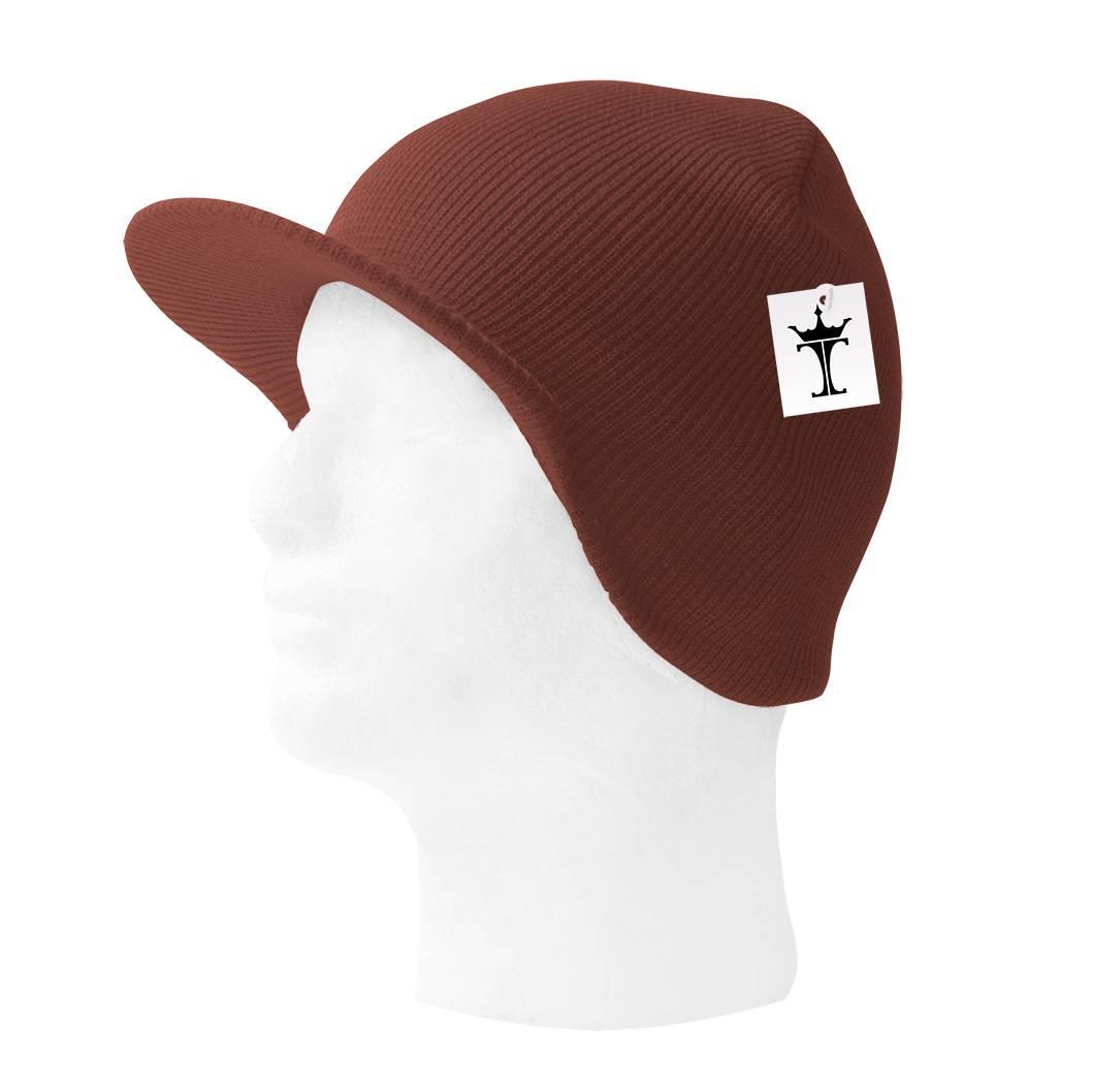 TopHeadwear-Cuffless-Beanie-Cap-with-Visor thumbnail 6
