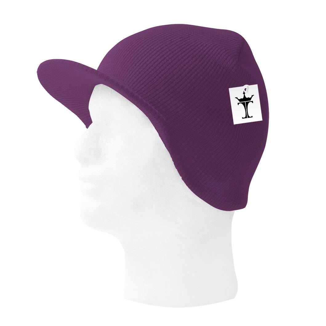 TopHeadwear-Cuffless-Beanie-Cap-with-Visor thumbnail 35