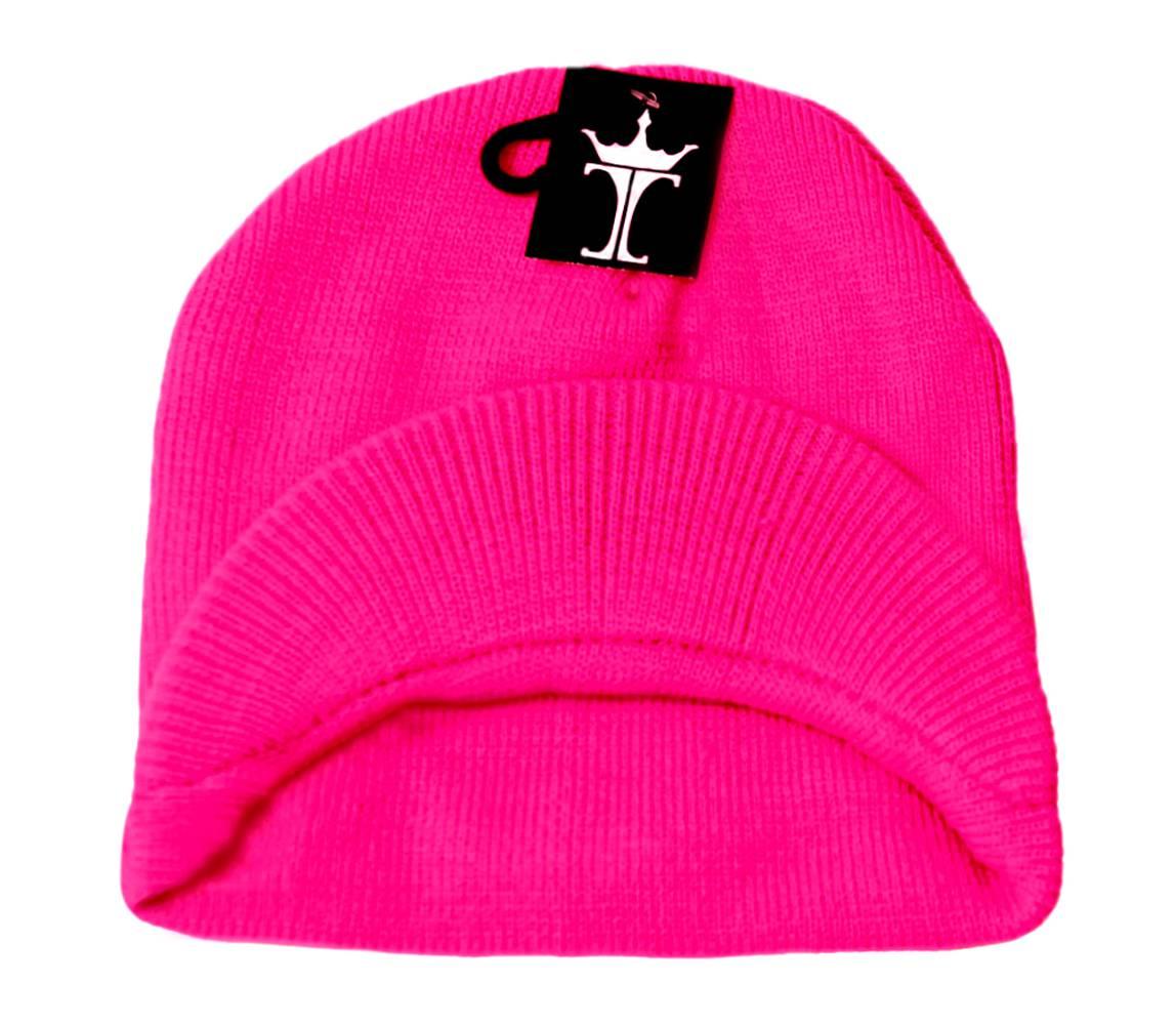 TopHeadwear-Cuffless-Beanie-Cap-with-Visor thumbnail 17