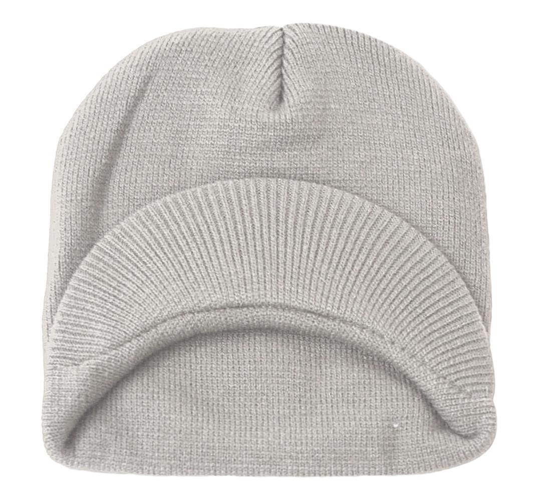TopHeadwear-Cuffless-Beanie-Cap-with-Visor thumbnail 21