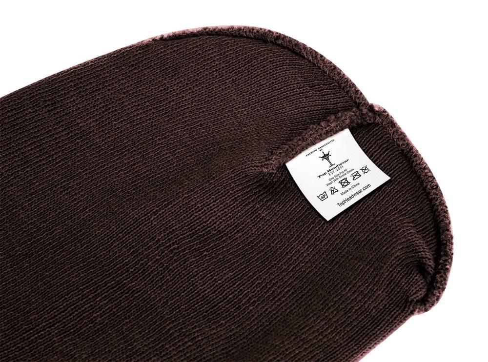 thumbnail 12 - Top Headwear Solid Winter Long Beanie - 12 Piece Wholesale