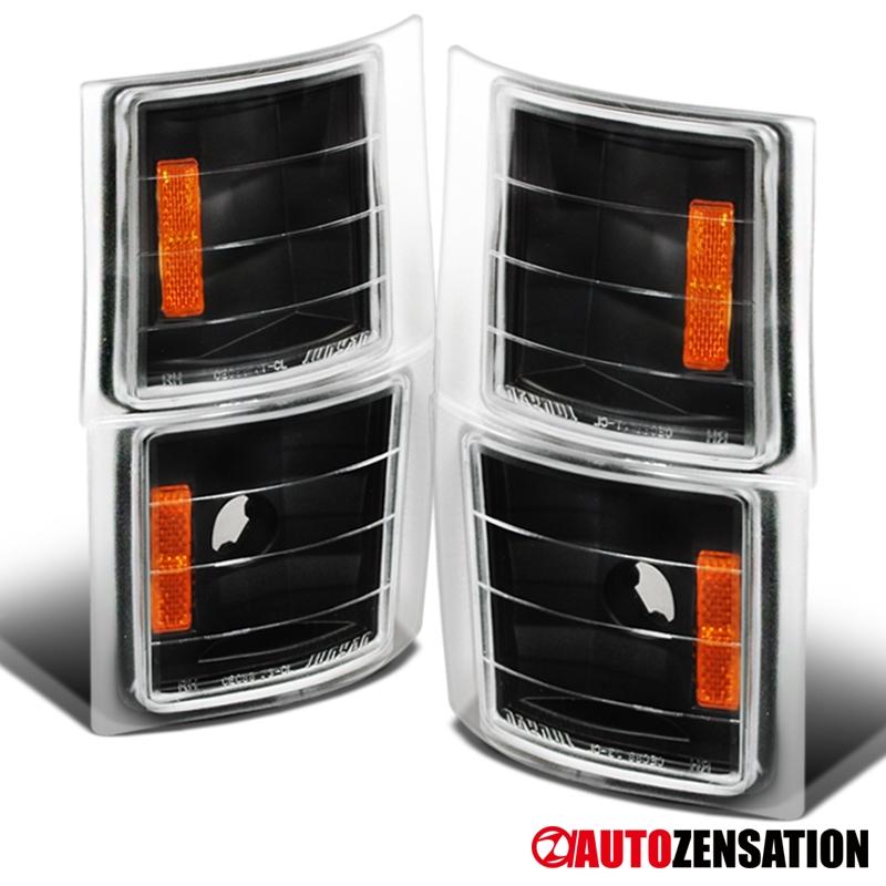 94-98 Chevy C//K Silverado Suburban Tahoe Pickup Clear Corner Signal Lights 4PC