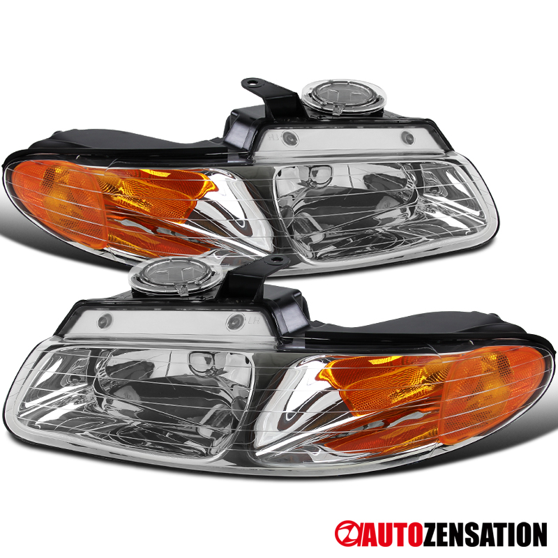 Left Right Pair Headlights for 1996-1999 VOYAGER CARAVAN CHRYSLER TOWN /& COUNTRY