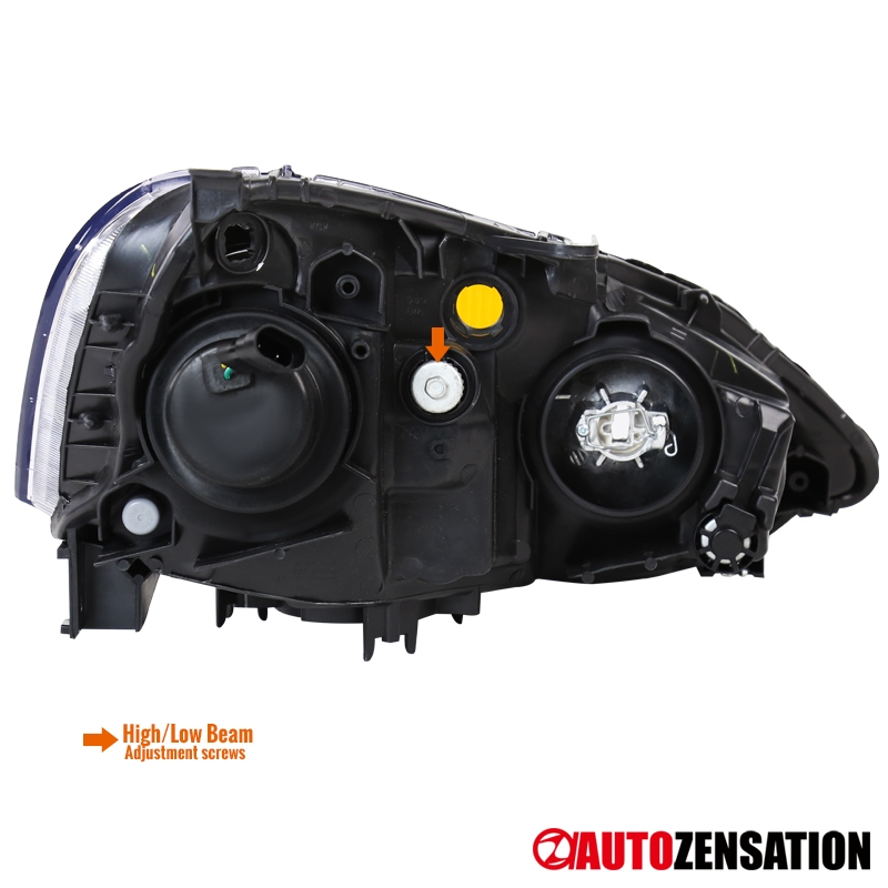 Fits 2002-2004 Acura RSX Retro Style Black Projector