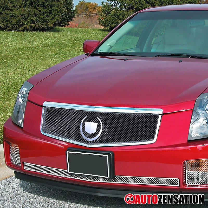 03-07 Cadillac CTS Chrome Hood Grille & Stainless Mesh