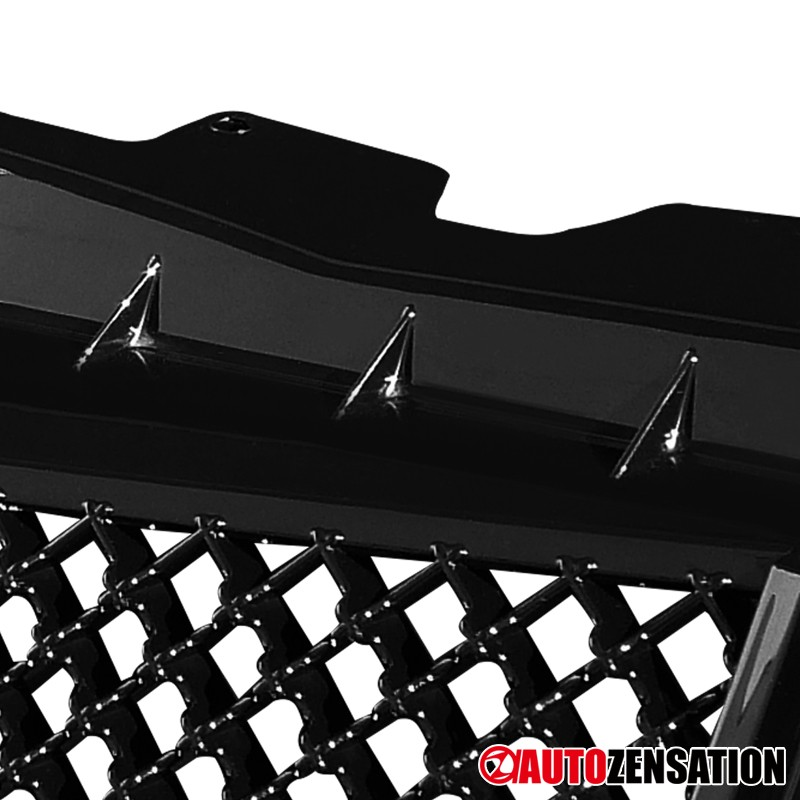 For 2003-2007 Cadillac CTS Glossy Black Mesh Front Bumper