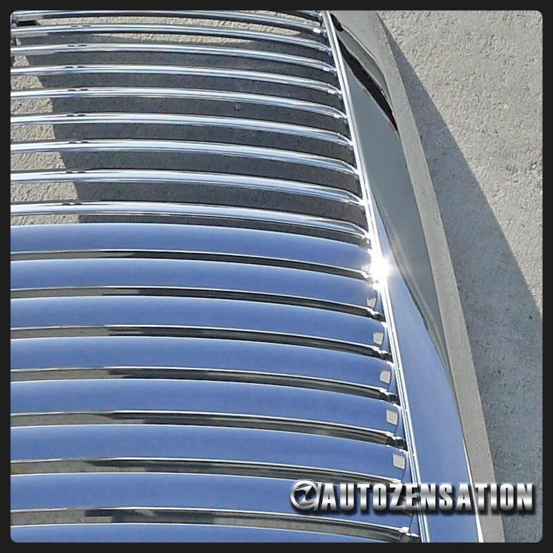 09 13 Ford F150 Truck Euro Chrome Vertical Style Hood Grill