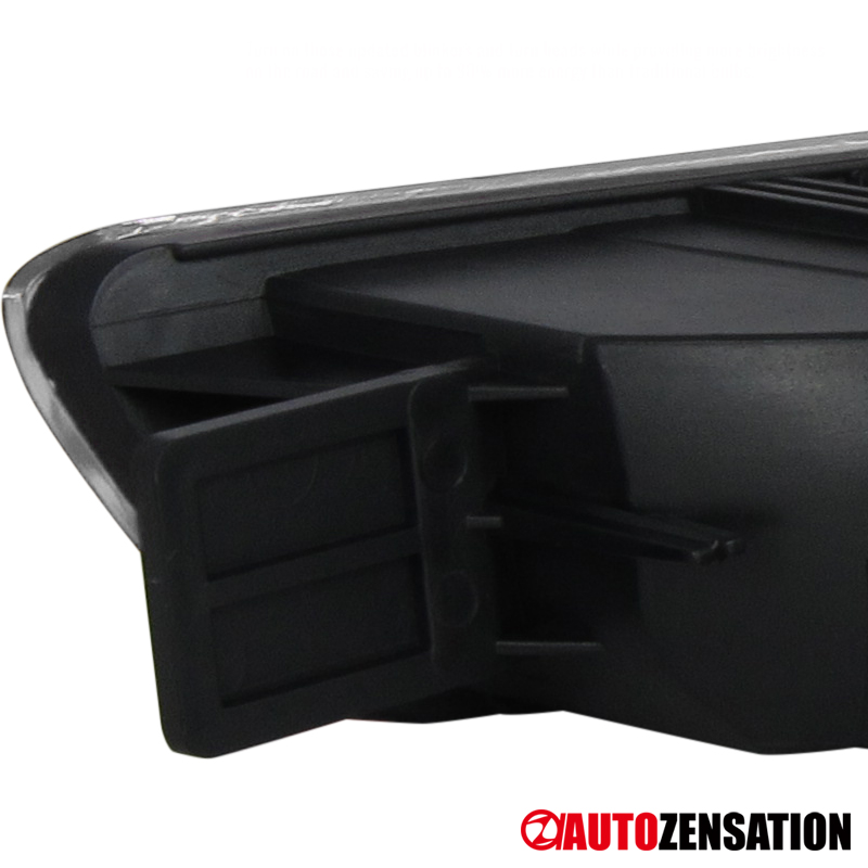 Fits 1998-2001 Acura Integra Black Front Bumper Turn