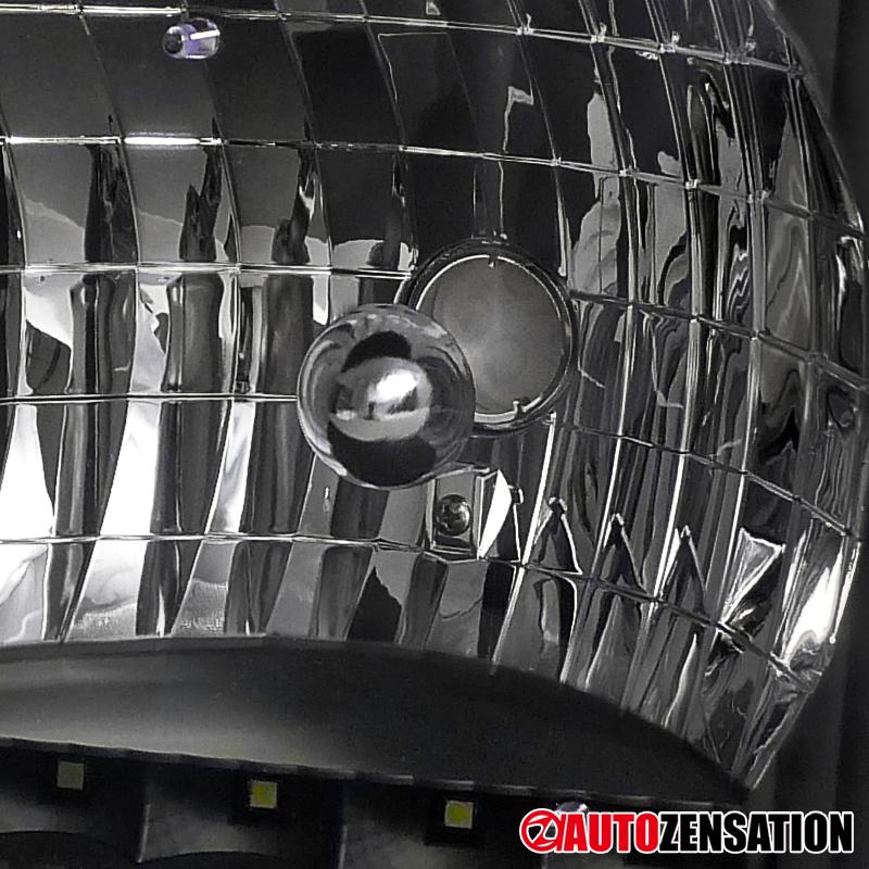92 06 Ford E150 E250 E350 E450 Econoline Van Black Led Drl