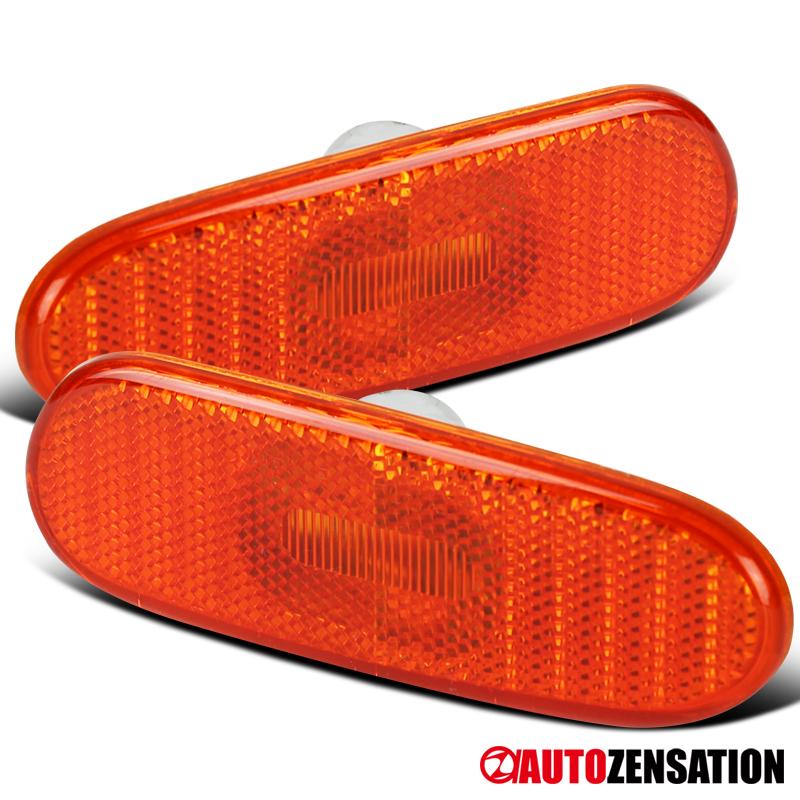For 2000-2005 Toyota Celica MR2 Spyder Clear Side Marker Lights Bumper Lamps