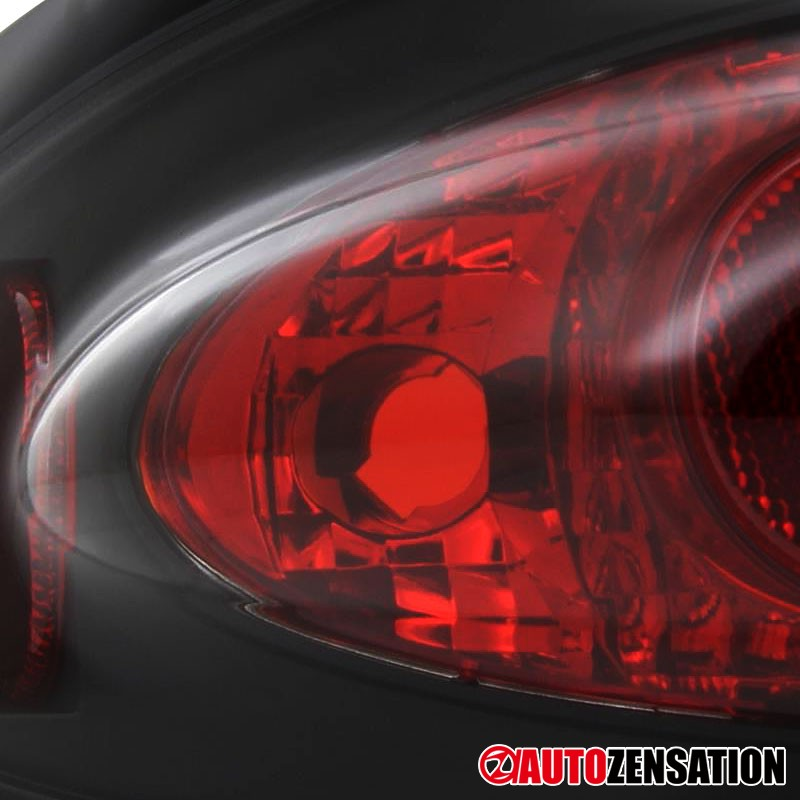 For 2003-2005 Chevy Cavalier Black Tail Lights Brake Turn Signal Lamps