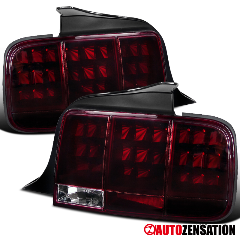 For 2005 Red Led Sequential Tail Lights Lamps Pair