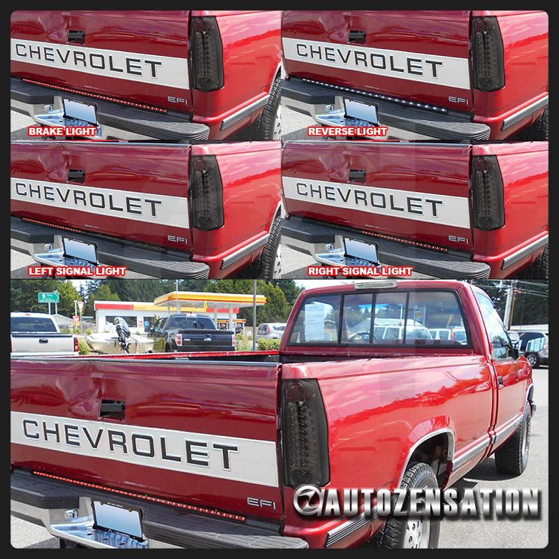 Dekade 1988 1998: For 1988-1998 Chevy GMC C10 C/K Smoke LED Tail Lights+49