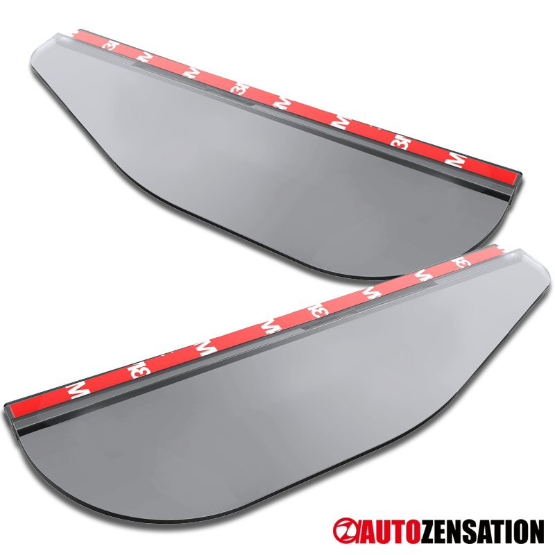 Smoked Clear Rear View Side Mirror Flexible Sun Visor Shade Rain Water Shield