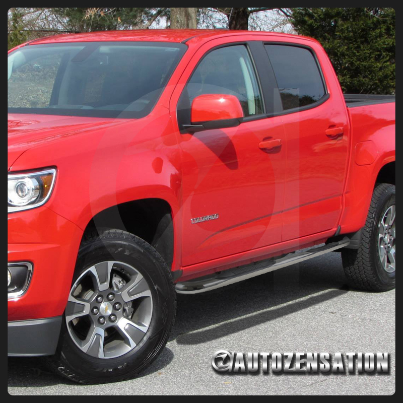 15 16 chevy colorado gmc canyon crew cab chrome side step nerf bar running board ebay. Black Bedroom Furniture Sets. Home Design Ideas