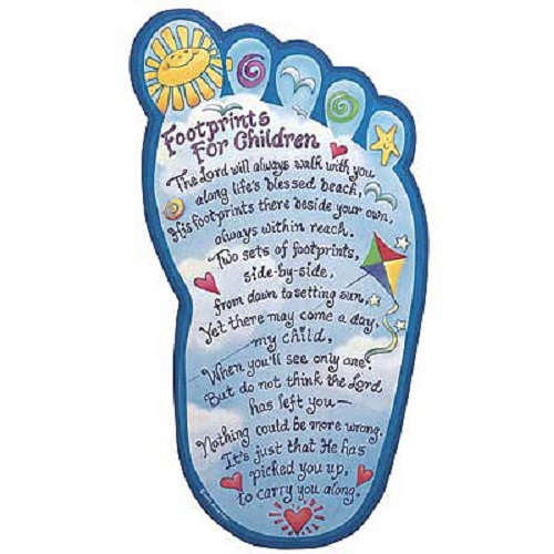 photograph relating to Footprints in the Sand Poem Printable known as Footprints inside the Sand Poem For Young children Wall Plaque 14