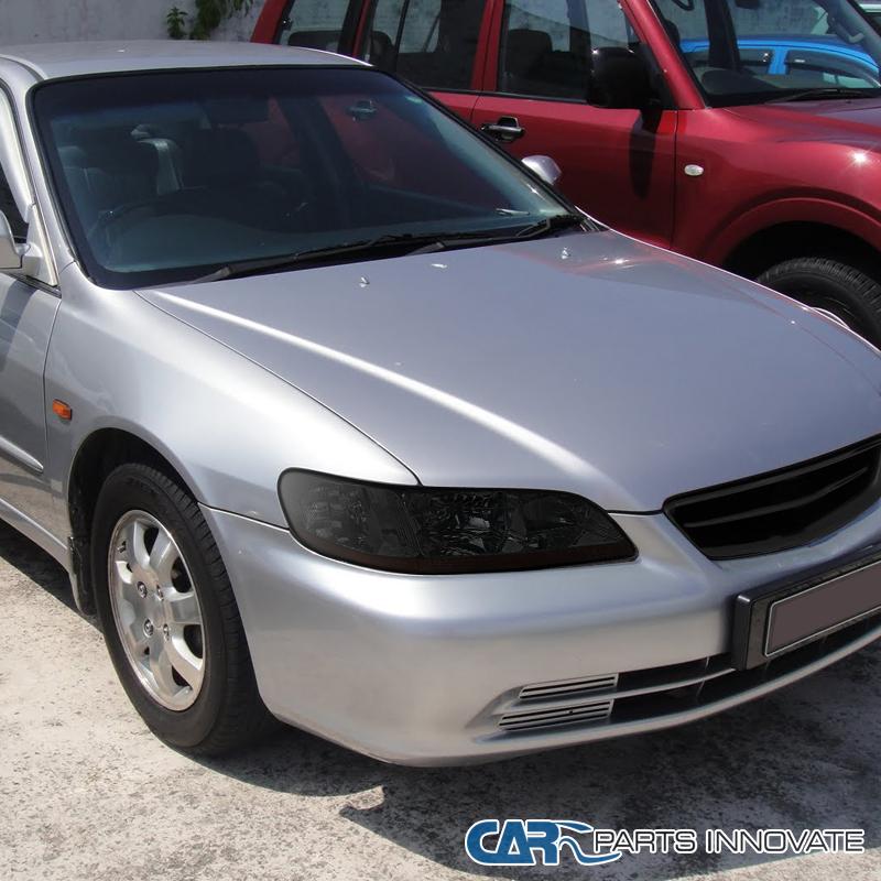 Chrome/Smoke Headlights Fit 98-02 Honda Accord 2/4Dr DX EX