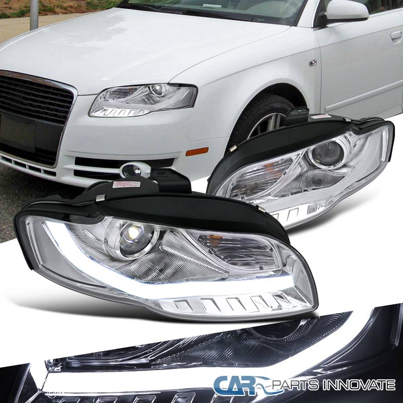 For Audi A Clear Replacement Projector Headlights Head Lamps - 2006 audi a4 headlights