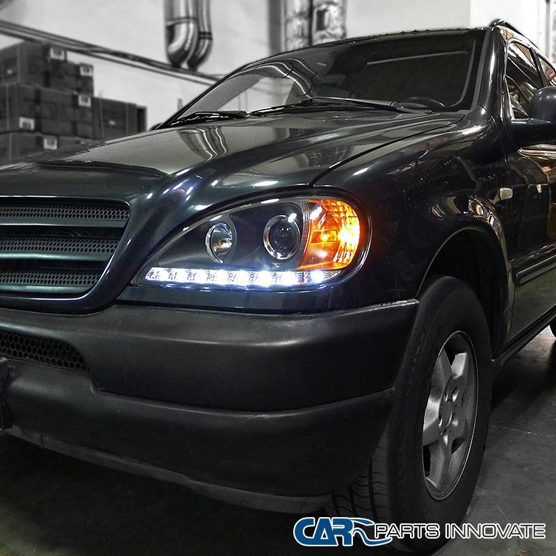 2002-2005 Benz W163 ML320 ML350 ML55 AMG Black SMD LED DRL