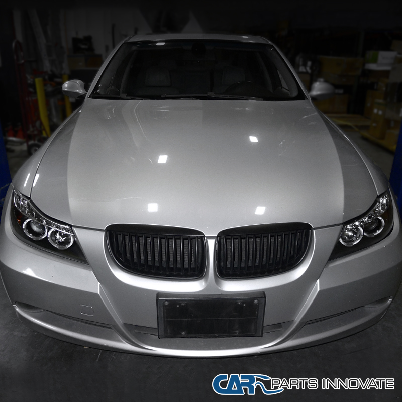 Bmw 330i: 2006-2008 BMW E90 3-Series 325i 330i 4Dr Black Dual Halo