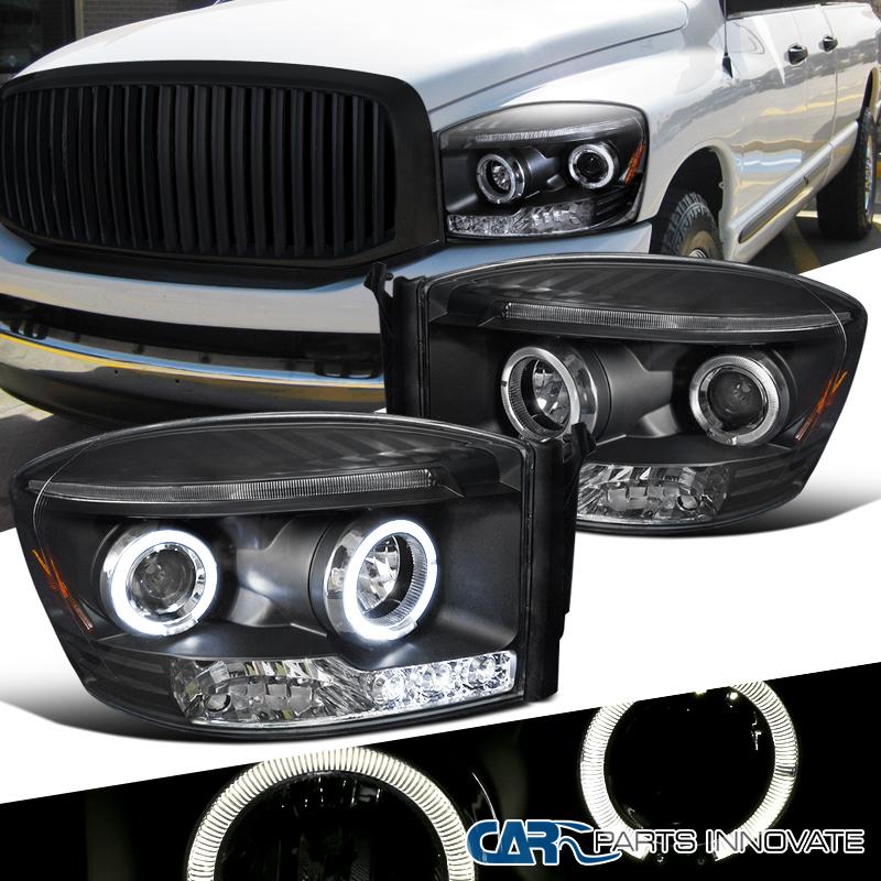 2006 2009 Dodge Ram 1500 Sinister Black 06 08 Ram 2500: 2006-2008 Dodge Ram 1500 2500 3500 Black LED Halo