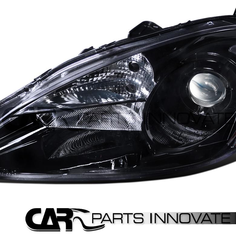 2005-2006 Acura RSX DC5 Black Projector Headlights