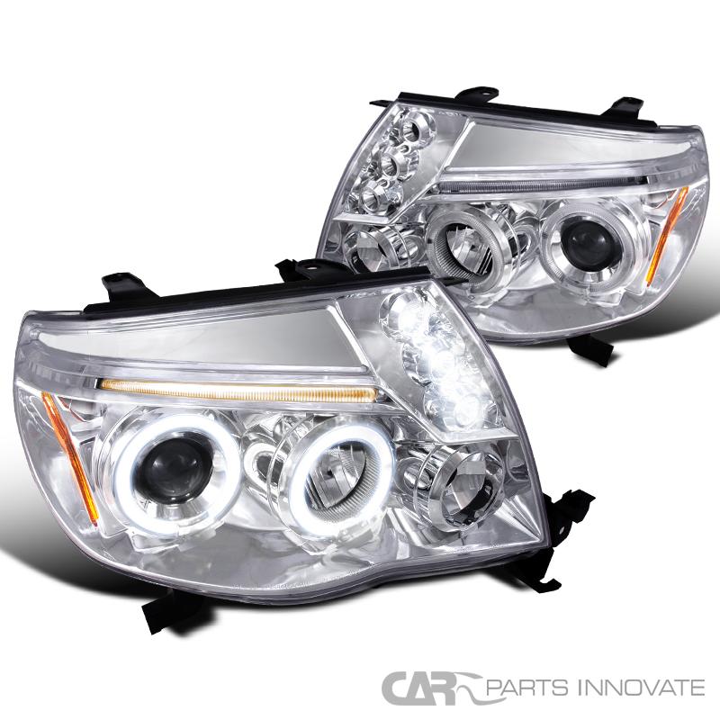 Toyota Tacoma Headlights: Toyota 2005-2011 Tacoma LED Halo Projector Headlights