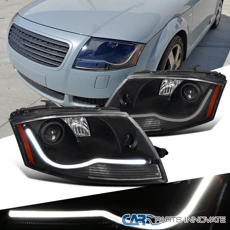 2001 Audi Tt Headlights: 99-06 Audi TT Black LED DRL Strip Daytime Running Lamps