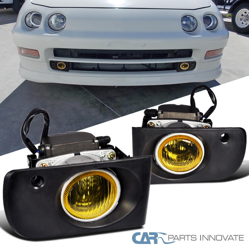 Acura 94-97 Integra Yellow Lens Fog Lights Driving Lamp