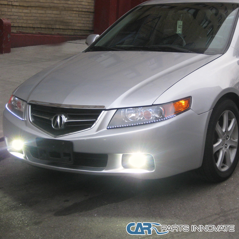 04-05 Acura TSX Yellow Amber Fog Lights Driving Bumper