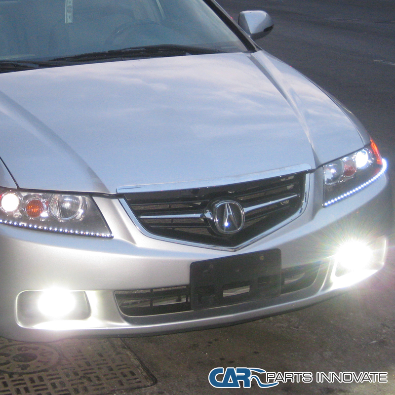 Acura 2004 Tsx: 2004-2005 Acura TSX Clear Fog Lights Driving Bumper Lamp