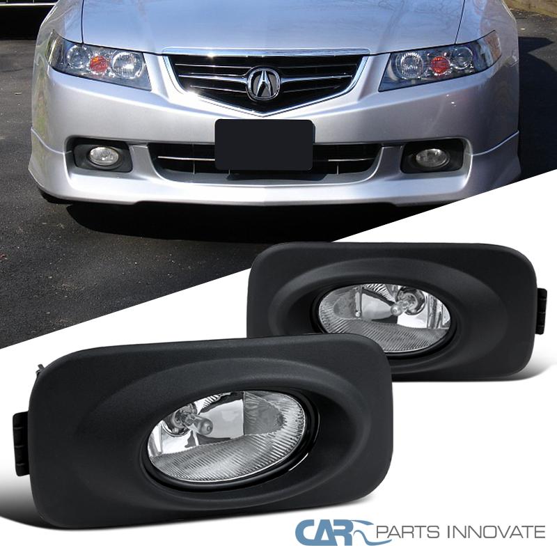 2004-2005 Acura TSX Clear Fog Lights Driving Bumper Lamp