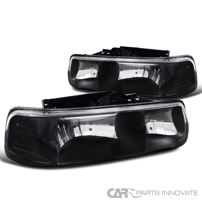chevy 00 06 suburban tahoe 99 02 silverado black headlights driving ls ebay