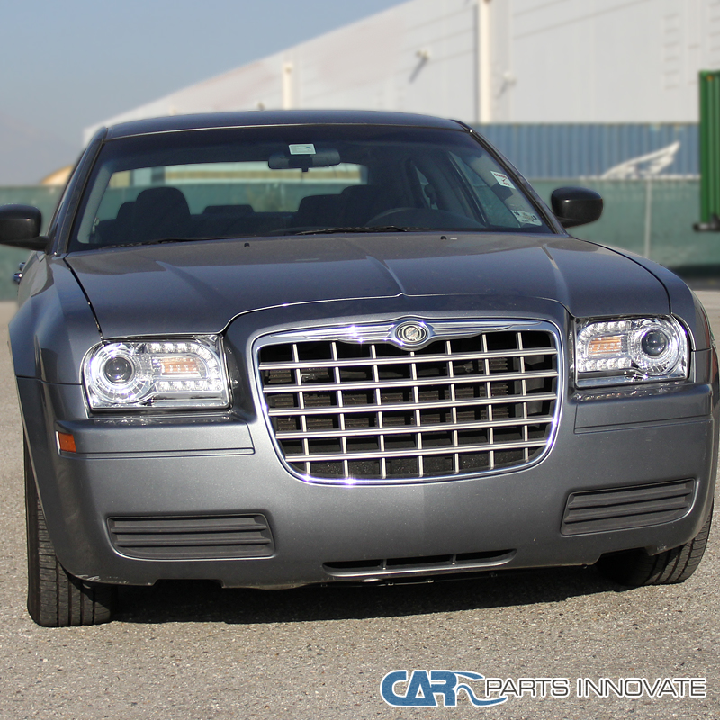 2005-2010 Chrysler 300 Chrome Projector Headlights Lamps W