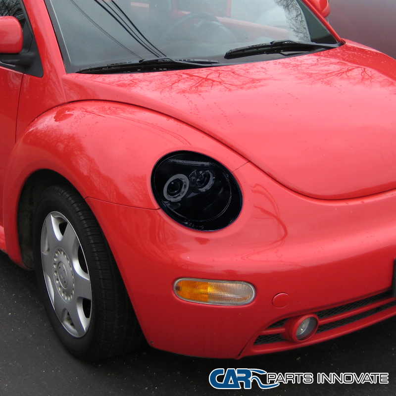 Volkswagen Beetle Turbo Price: Glossy Piano Black For VW 1998-2005 Beetle Tinted LED
