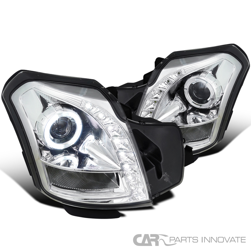 Cadillac 2003-2007 CTS SMD LED Halo Projector Headlights