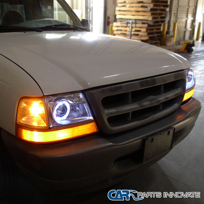 Ford Ranger Projector Headlights : Ford  ranger pickup truck projector headlights