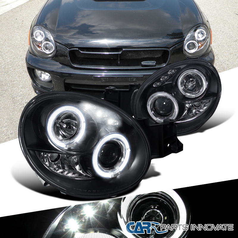 Per Subaru 02-03 Impreza Wrx Led Halo Projector Headlights-9070