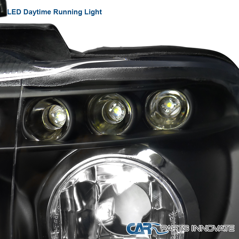 01-03 Bmw E53 X5 Sostituzione Dual Halo Led Black Projector-4862