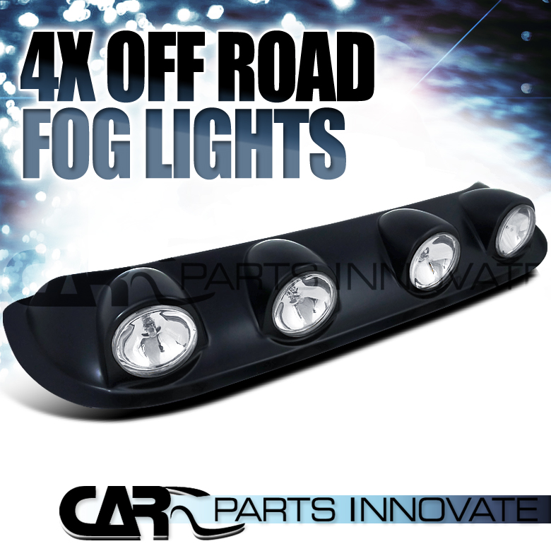 Set Black Fog Lamp Spot Light Fit Chevrolet Colorado: 4x Clear 4X4 Off Road Truck Pickup Roof Top Fog Light Bar