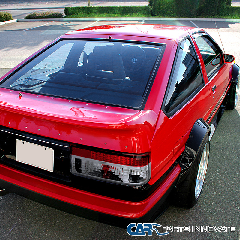 For Toyota 83 87 Corolla AE86 Hatchback Red Clear Tail Lights ...