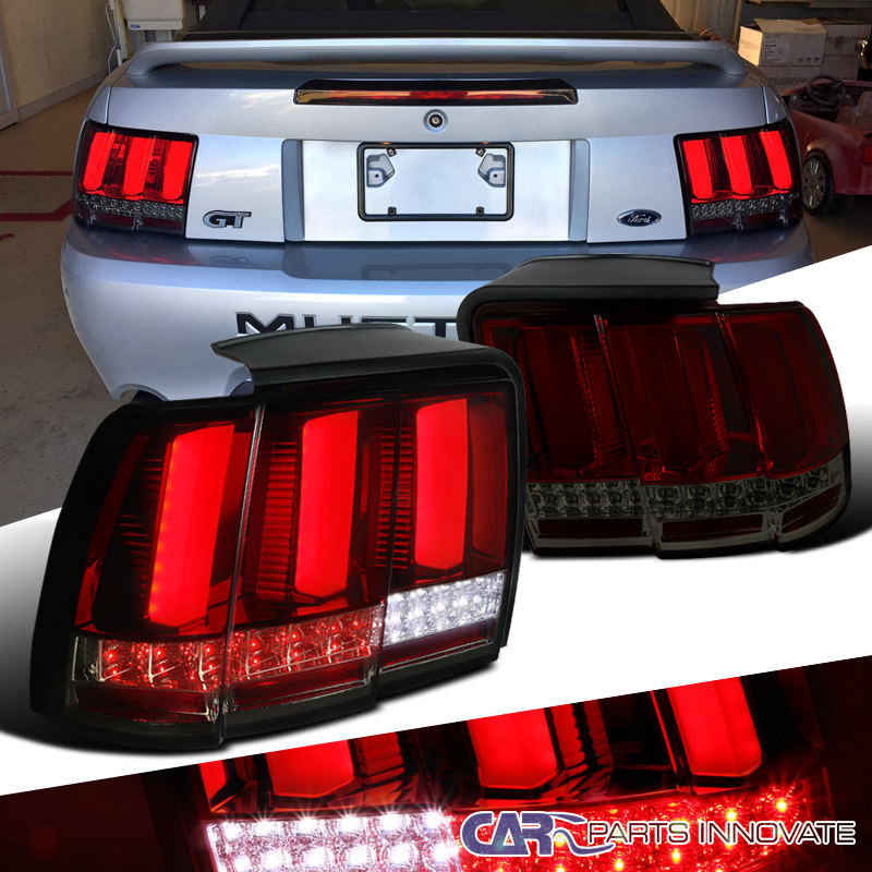 99 Ford Mustang: 99-04 Ford Mustang Red Smoke Lens LED Sequential Turn